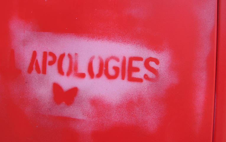 The art of apology opens us to the art of being fully human. One cannot exist without the other.
